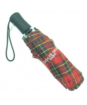 Paraguas plegable escocés clasico.