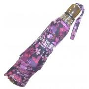 Paraguas plegable dibujos en tonos lila de acero.